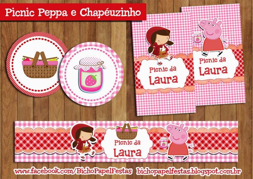 Kit Picnic Peppa Pig e Chapéuzinho Vermelho