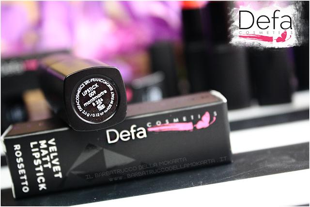 montmartre Defa cosmetics lipstick recensione