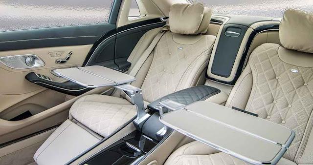 Băng sau Mercedes Maybach S600 2017 thiết kế rộng rãi,thoải mái với đầy đủ các tiện ích