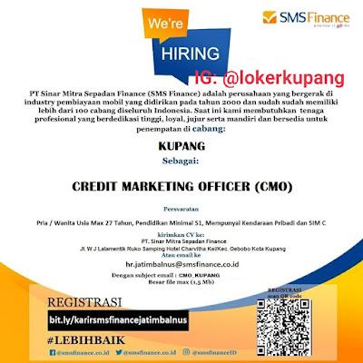 Lowongan Kerja SMS Finance Sebagai Credit Marketing Officer