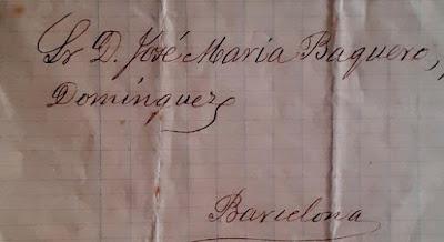 Encabezado de la carta a José María Baquero Domínguez