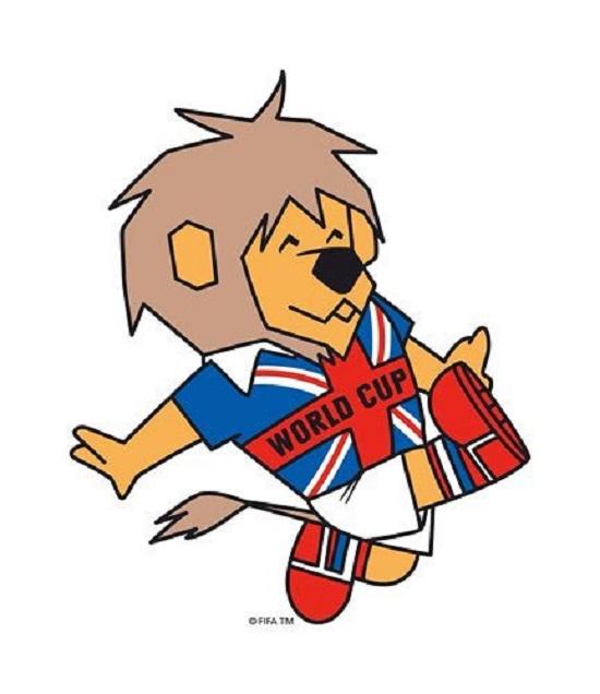 Linh vật chú sư tử của World Cup 1966.