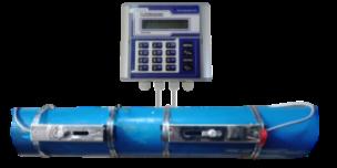 Flow meter ultrasonic yang digunakan untuk mengecek kapasitas pompa