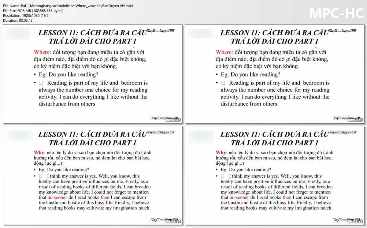 Video hướng dẫn Chiến thuật chinh phục IELTS Speaking