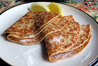 Crepes with Lemon & Sugar for Two