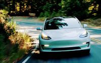 Tesla Model 3 white (Credit: Tesla) Click to Enlarge.