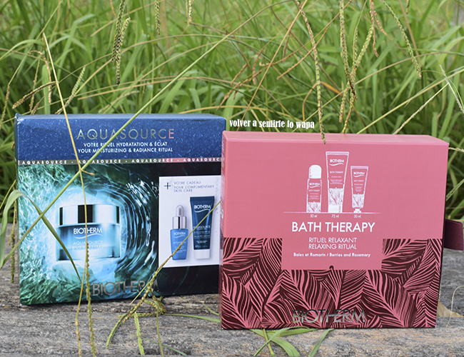 Sets de Biotherm: Aquasource y Bath Therapy