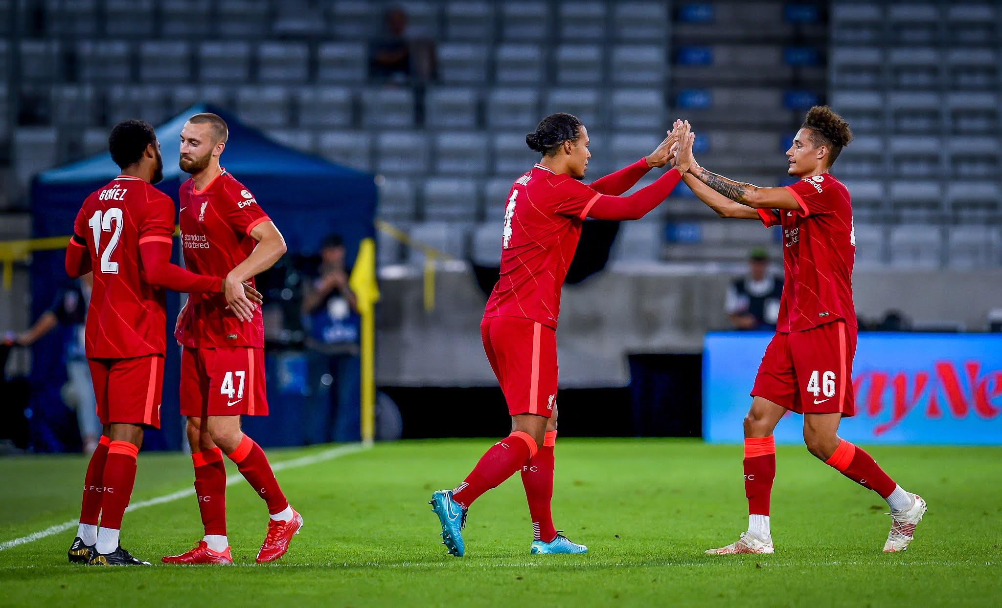Van Dijk and Joe Gomez return to action against Hertha Berlin