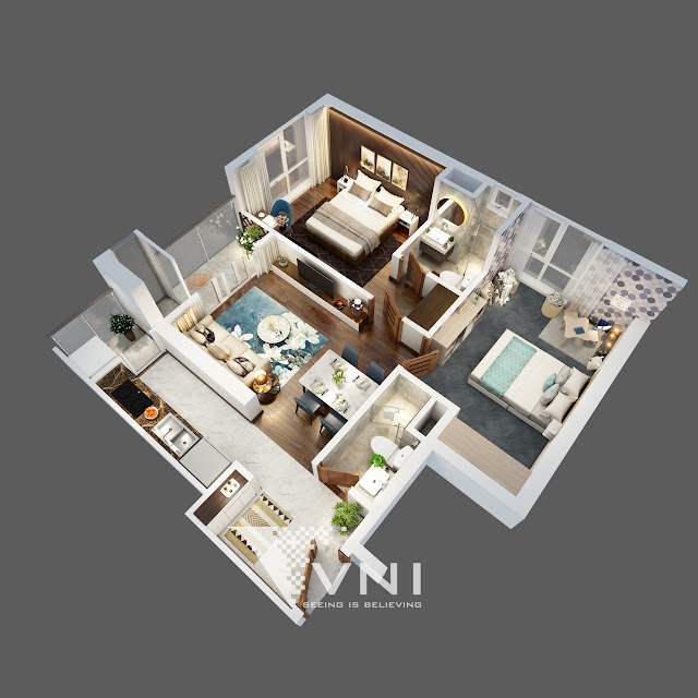 Hình ảnh thiết kế 3d của dự án The Terra An Hưng