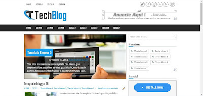 Template Blogger Tech Blog Moderno