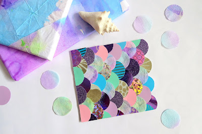 Mermaid card & wrapping paper
