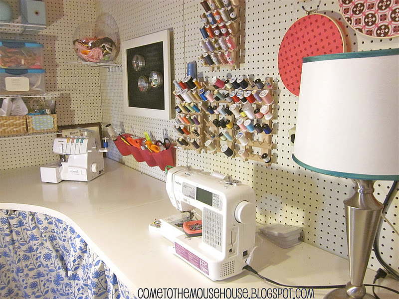 Craft Room Wall Decor: The Basement Craft Room: Under $300