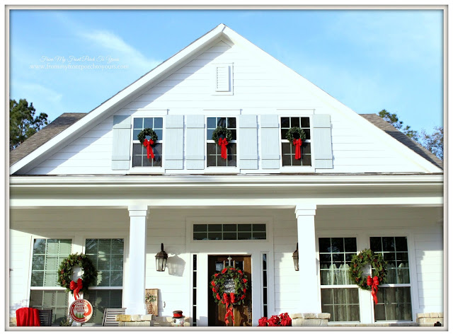 Farmhouse Christmas Porch-Suburdan Farmhouse-From My Front Porch To Yours