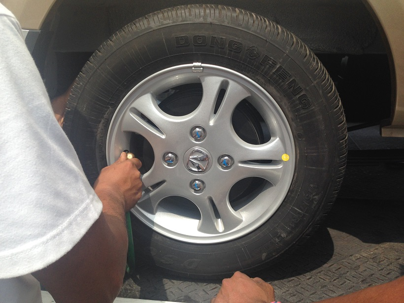 Over-inflated front tires