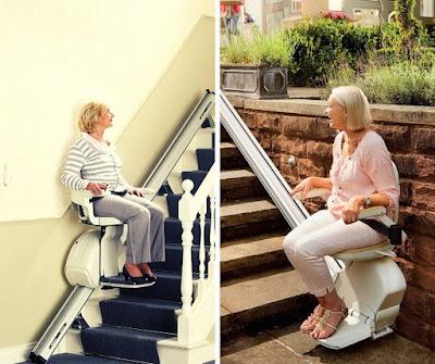 Krzesełka schodowe na schody proste