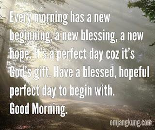 Ucapan selamat pagi buat sahabat dan pacar