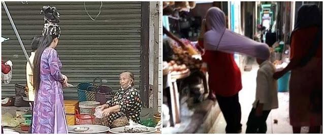 10 Momen lucu ibu-ibu belanja di pasar ini bikin cekikikan
