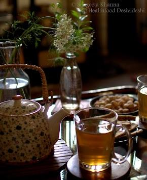 lemongrass and ginger green tea for treating common ailments...