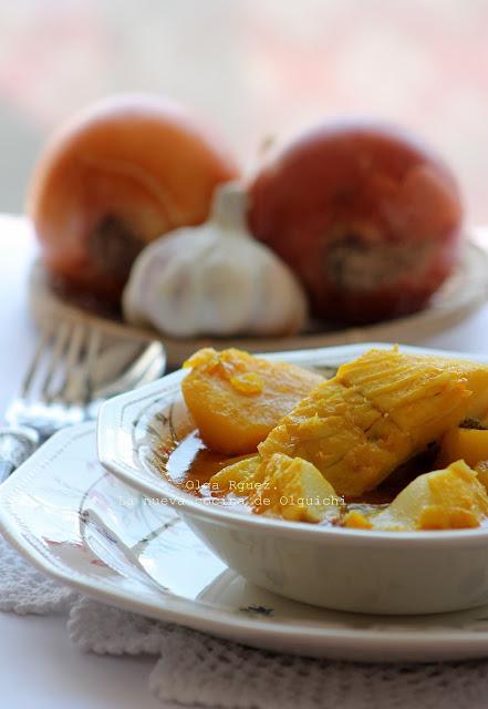 Bacalao con patatas la nueva cocina de olguichi for Cocina bacalao con patatas