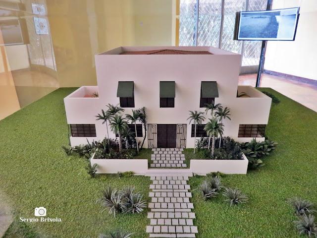 Close-up da Maquete da Casa Modernista - Vila Mariana - São Paulo