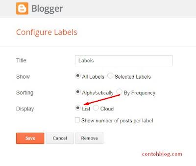 Add a Gadget > pilih Label