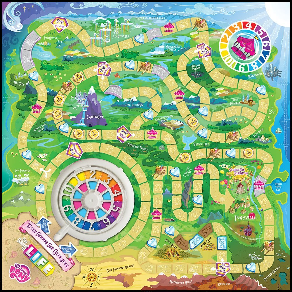 the game of life template my little pony the game of life available on amazon mlp