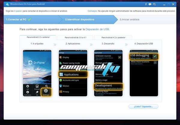 Wondershare Dr.Fone para Android Versión 5.0.2 Full Español