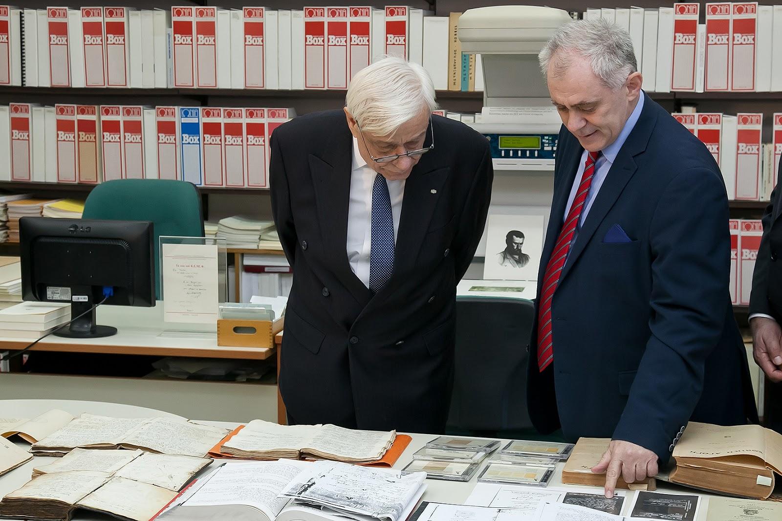 Πανεπιστήμιο Ιωαννίνων:Την «Έκθεση χειρογράφων και παλαιτύπων»,επισκέφθηκε ο Πρόεδρος της Δημοκρατίας