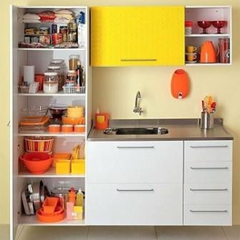 Lemari dapur kitchen set kayu sederhana