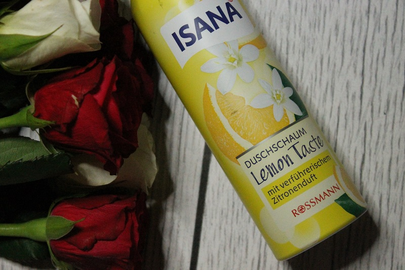 isana pianka pod prysznic lemon taste