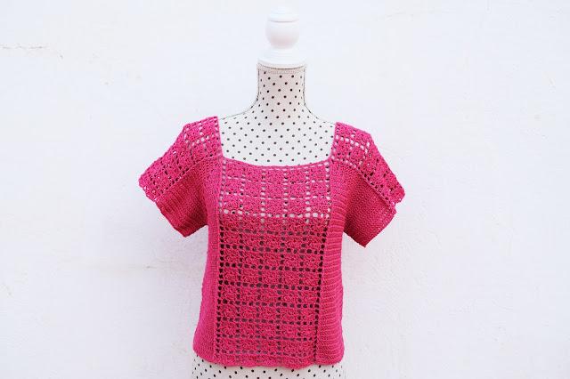 2 - Crochet Imagen Blusa veraniega a crochet y ganchillo por Majovel Crochet