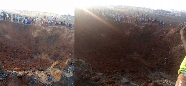 Possible meteor impact leaving huge crater and destroys over 100 houses in Akure, Nigeria  Meteor-impact-nigeria-2020%2B%25281%2529