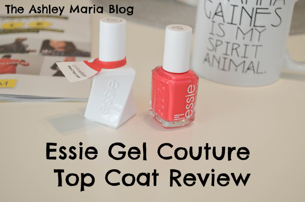 The Ashley Maria Blog: Review | Essie GelCouture Top Coat