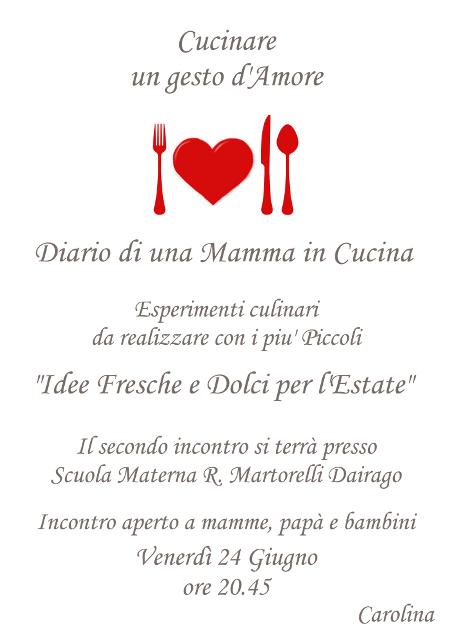 Quartosenso cafe cucinare un gesto d 39 amore for Cucinare estate