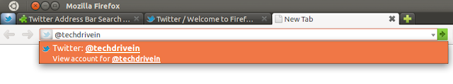 Twitter Address Bar Search Firefox Add-on