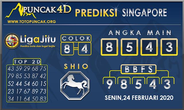 PREDIKSI TOGEL SINGAPORE PUNCAK4D 24 FEBRUARI 2020