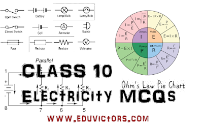 CBSE Class 10 - Physics: Electricity - Multiple Choice Questions (MCQs-2) (#eduvictors)(#cbsenotes)