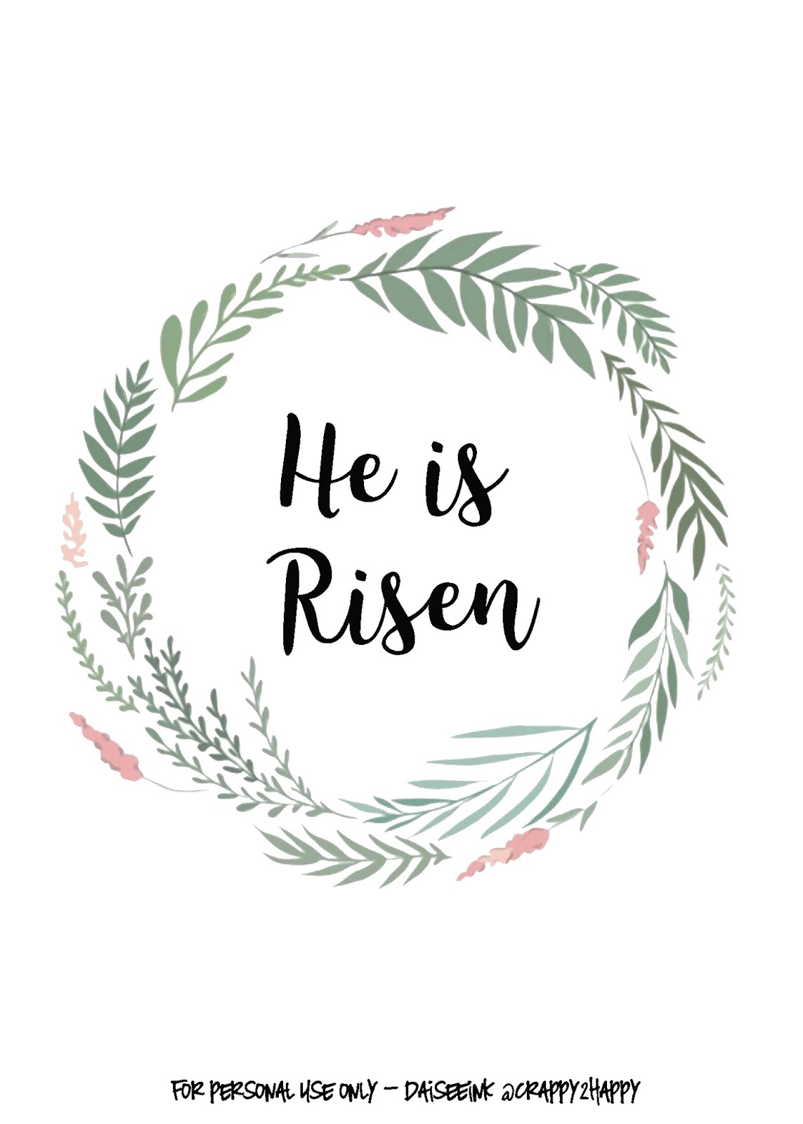 It's just an image of Gutsy He is Risen Printable