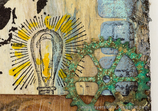 Layers of ink - Sea Journey Etcetera Tag Tutorial by Anna-Karin Evaldsson with Tim Holtz Sizzix dies