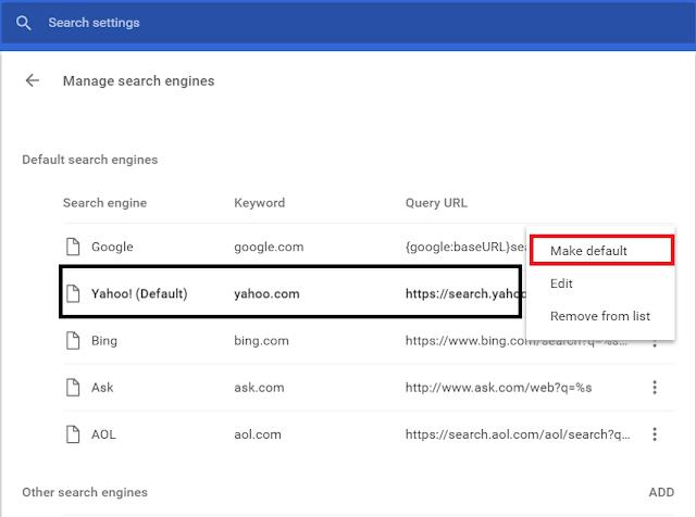Cara Menjadikan Google Search Engine Sebagai Default