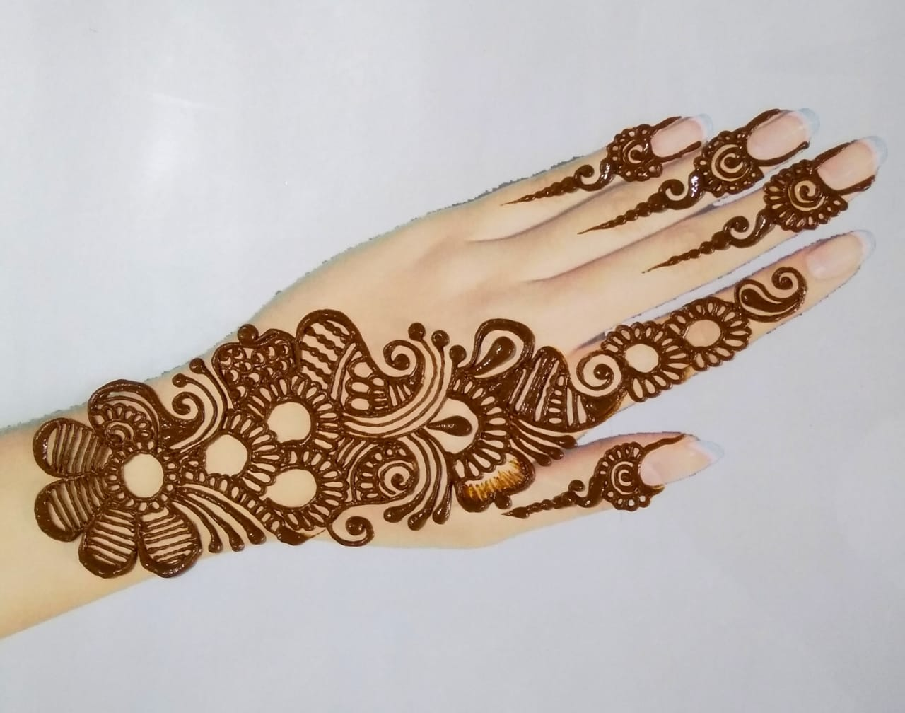 Flower Arabic Mehndi Design