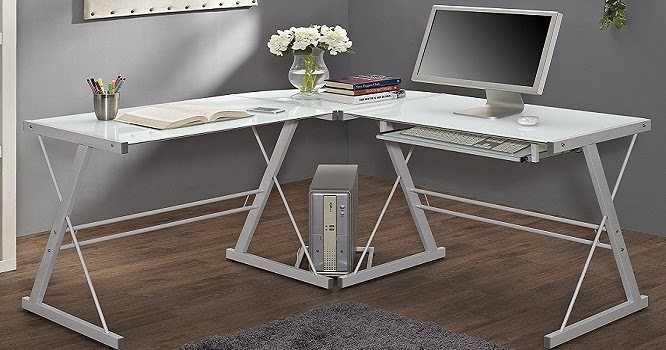 top 10 best home office desks under 100 techcinema. Black Bedroom Furniture Sets. Home Design Ideas