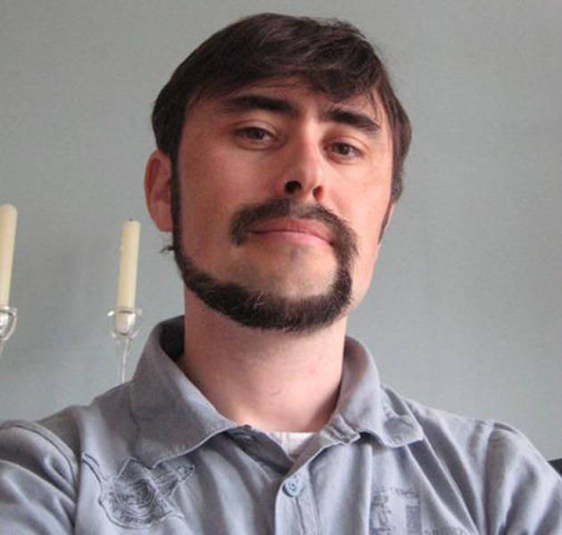 "The latest squeak of men's fashion: the ""monkey tail"" beard"