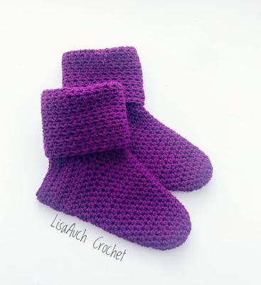 crochet slipper socks easy free pattern