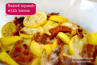 Baked Summer Squash with Bacon