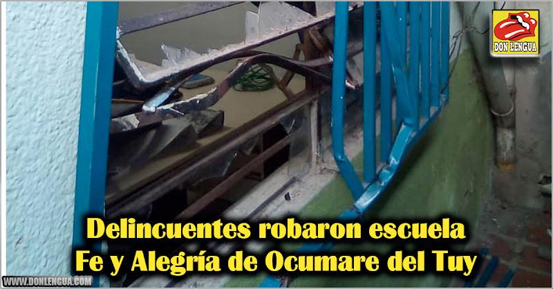 Delincuentes robaron escuela Fe y Alegría de Ocumare del Tuy