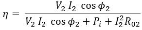 Efficiency of Transformer & Maximum Efficiency Condition