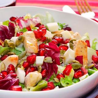 ensalada de pollo con granada y frutas menú navidad embarazada blog mimuselina qué comer y qué no estando embarazada