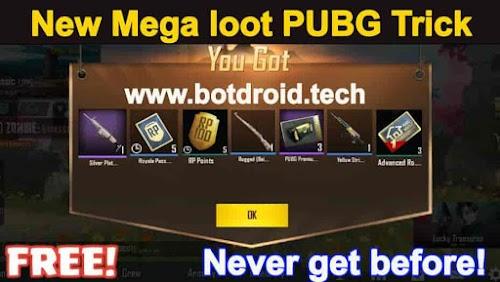PUBG mobile Latest Unlimited Tricks   Mega loot