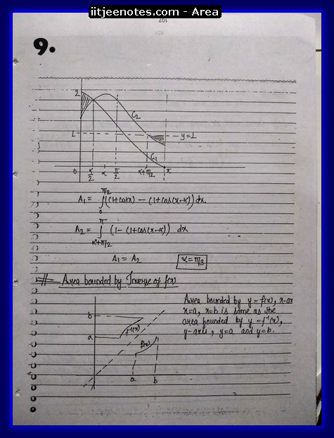 area under curve notes2